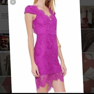 NWT L'Artiste coral lace pencil dress pink new